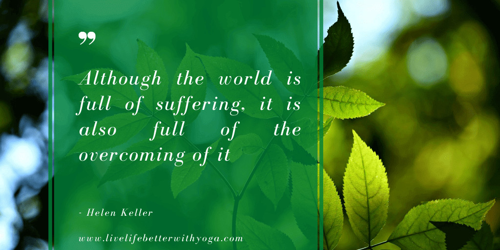 Inspirational healing quotes by Helen Keller